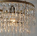 Antique cut-glass chandeliers